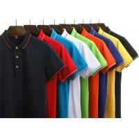 Pure Cotton Casual Work Uniforms , Custom Logo Adults Work Uniform Polo Shirts for sale