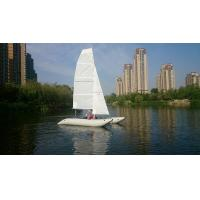 Wholesale Inflatable Sailing Kayak With Two Sails , Portable Inflatable Catamaran Sailboat from china suppliers