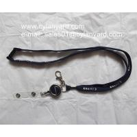 Wholesale Luxury tube lanyard with metal retractible badge reel from china suppliers