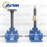 Wholesale 5 Ton Acme Screw Jack Lifting Screw Diameter 38MM Lead 6MM Gear Ratio 6:1, 12:1 and 24:1 from china suppliers