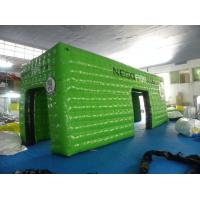 Wholesale Green Square Inflatable Event Tent with 0.6mm - 0.9mm PVC Tarpaulin , Waterproof and Fire Resistant from china suppliers
