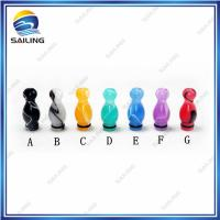 Wholesale Acrylic E cigarette Drip Tip , Blue Electronic Cigarette Holder from china suppliers