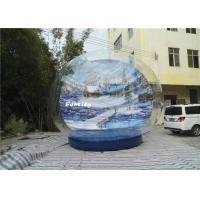 Wholesale Winter Wonderland 0.9mm PVC Tarpaulin  Giant Inflatable Snow Globe Show Ball from china suppliers