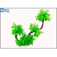 Wholesale Two Branch Plastic Tree Artificial Aquarium Plants With Small Flowers For Decoration from china suppliers