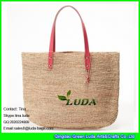 Wholesale LDLF-059 fashion women summer raffia crochet straw beach bag from china suppliers