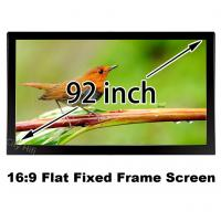 "Wholesale Brilliant Picture 92"" Flat Fixed Frame Cinema Projection Screen 16:9 Format Support 4K from china suppliers"
