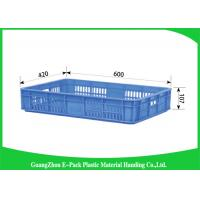 Wholesale Industrial Plastic Storage Containers , Agriculture Solid Plastic Milk Crates from china suppliers