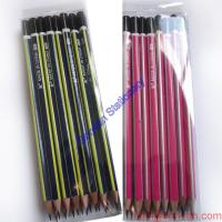 Wholesale Professional Manufacture Cheap Environmental Cheap Promotional Strip Hb Pencil from china suppliers