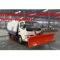 Wholesale factory sale best price CLW brand road sweeper truck with snow shovel, hot sale road sweeper truck with snow removal from china suppliers
