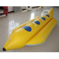 Wholesale 0.9mm PVC Inflatable Banana Boat Four Person Inflatable Boat For Lake from china suppliers