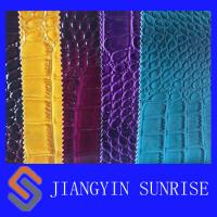 Buy cheap Embossed Faux Crocodile Leather Fabric For Shoes from wholesalers