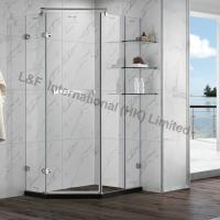 Wholesale R6114-2HL Tempered Glass Hinge Door with Shelf Shower Enclosure from china suppliers