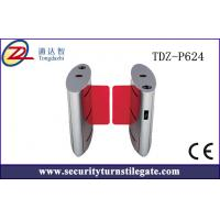 Wholesale TCP / IP Full automatic Flap Turnstile sliding Barrier gate for Building from china suppliers