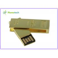 Wholesale Office Rectangle Gold Twist USB Sticks Custom-Made With File Transfer from china suppliers