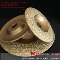 Wholesale Vacuum Brazed Diamond Grinding Disc for marble and granite  Alisa@moresuperhard.com from china suppliers