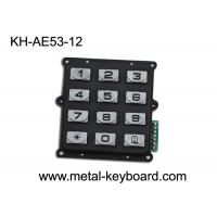 Wholesale Anti - vandal Metal Numeric Keypad IP 65 , 12 button Entry Keypad numeric from china suppliers