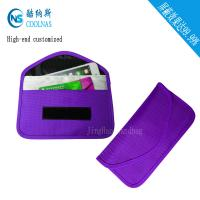 Wholesale Anti Radiation Purple RFID Travel Bags / Womens Rfid Wallet 19.5*9 Cm from china suppliers