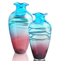 Wholesale Colored Glass Vase / Bottles For Home Decor , Modern Innovative Design from china suppliers