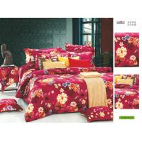 Buy cheap Home OEM Full Size Red Floral Tropical Cotton Custom Bed Sheet Set for Bedroom from wholesalers