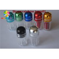 Wholesale sex pill bottle with ring cap/ capsule shaped container storage capsule Clear hexagon plastic container with blue cap from china suppliers
