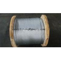 Wholesale Waterproof Galvanised Steel Wire Cable , 7 Wire Strands High Strength Steel Cable from china suppliers