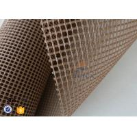 Wholesale Brown 4x4mm Teflon / PTFE Coated Fiberglass Fabric For Conveyor Belt from china suppliers