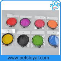 Wholesale Manufacturer Cheap Silicone Pet Feeder Dog Bowl Collapsible Travel Pet Dog Bowl from china suppliers