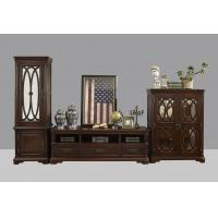 Wholesale American Antique Living leisure room furniture sets Wooden TV wall unit set by Floor stand and Tall display cabinet from china suppliers