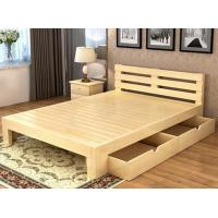 Wholesale Queen Size Solid Pine Wood Box Frame Bed , Solid Wood Storage Bed With Drawers‎ from china suppliers
