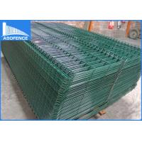 Wholesale 50 X 200mm PVC Coated 3D Fence Panel , Green Curves Galvanized Welded Wire Fence from china suppliers