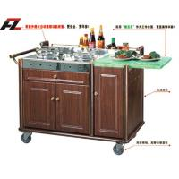 Wholesale Hotel Buffet Cart with Double Gas Stoves-Kitchen Cart Island from china suppliers