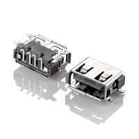Buy cheap USB2.0 female connector USB A type female SMT from wholesalers