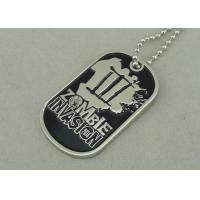 Wholesale Nickel Double Side Police Personalised Dog Tags Die Stamped Soft Enamel from china suppliers