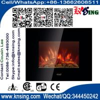 Wholesale Wall Mount Electric Fireplace Heater Flat Tempered Base flame log EF450S/EF450SL/EF450SLB with base stand room heater from china suppliers