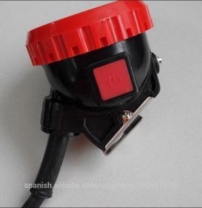 China 5Ah corded  LED mining hard hat light,high luminance mining cap light on sale