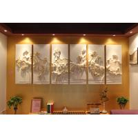 Quality Simply Installation PU 3D Decorative Wall Panel 60cm * 60cm for sale