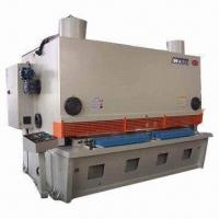 Buy cheap NC guillotine shearing/cutting machine, shearing angle can be adjusted from wholesalers