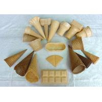 Wholesale Delicious Homemade Ice Cream Waffle Cone , Sugar Ice Cream Cone Multi Shape from china suppliers