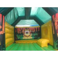 Buy cheap Children Fireproof Combo Slide Bounce House Animal Monkey Theme from wholesalers