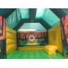 Buy cheap Children Fireproof Combo Slide Bounce House Animal Monkey Theme from wholesalers