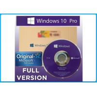 Buy cheap Oem Full Version 32bit / 64bit Microsoft Windows 10 Pro  With Genuine License from wholesalers
