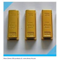 Wholesale  luxurious gift gold bar usb flash drive  MOQ 100pcs from china suppliers