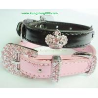 Quality Dog Collars,Leather PET Collars,Rhinstone Dog Collars for sale