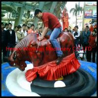 Wholesale Giant Mechanical Rodeo Bull With Inflatable Mattress Interactive Game In Amusement Park from china suppliers