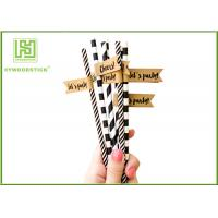 Wholesale Disposable Colored Paper Straws , Paper Drinking Straws Bulk For Baby Shower 197 * 6mm from china suppliers