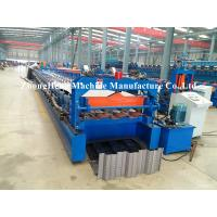 Quality 1.2mm Thickness steel Decking floor roll forming machine with high stengthen power for sale