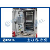 Wholesale Aluminum Steel Thermostatic Outdoor Power Cabinet Cutomized 900×900×2100 mm from china suppliers