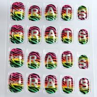 Wholesale 3D Color Changing Nail Art Beautiful Plastic Press Nail For Kids from china suppliers