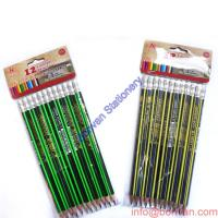 Wholesale Super quality linden wood Hex. shape hb stripping golf pencil with eraser from china suppliers