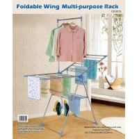 Wholesale Foldable Steel Metal Clothes Rack Indoor / Outdoor for Baby Clothing from china suppliers
